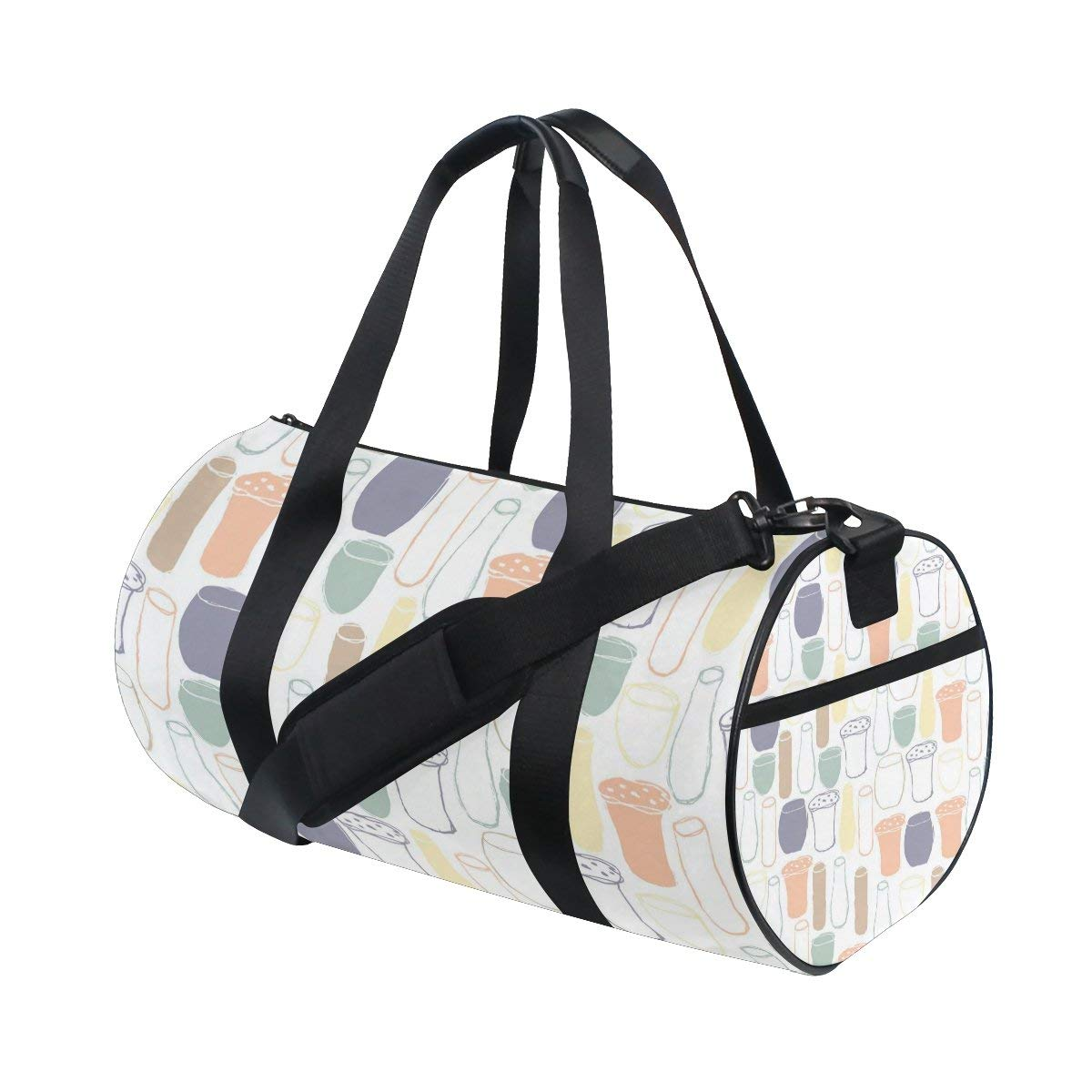 Gym Bag Graphics Cup Pattern Sports Travel Duffel Lightweight Canvas Bag
