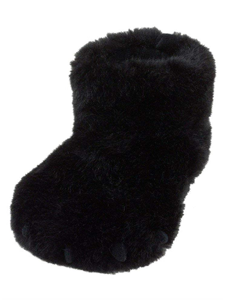 Boys Fuzzy Black Gorilla Slippers Ape House Shoes