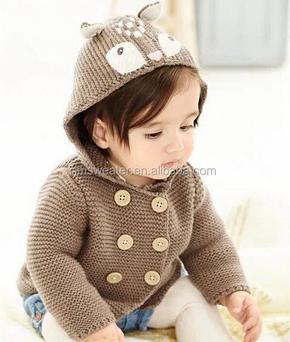 Fashionable hoodies knitting coat cute design animal ear hoodies jacket unisex sweater
