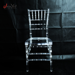Hot Sale Clear Used Resin Chiavari Chair For Wedding