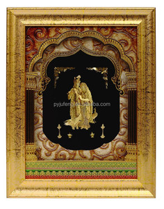 2015 New design 24K gold foil India god Radha Krishna with plastic photo frame,