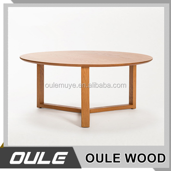 Great Living Room Furniture Nordic Style Solid Wood Tea Table/Home Design Wooden  Round Coffee Table