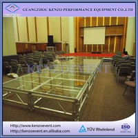 aluminum frame plexiglass stage for events