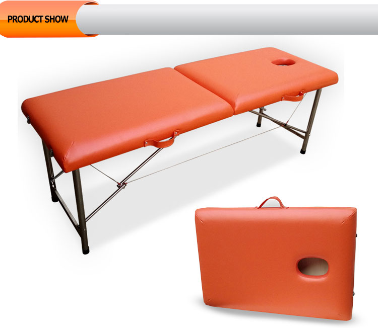 Portable Massage Table With Pu Surface And Stainless Steel ...
