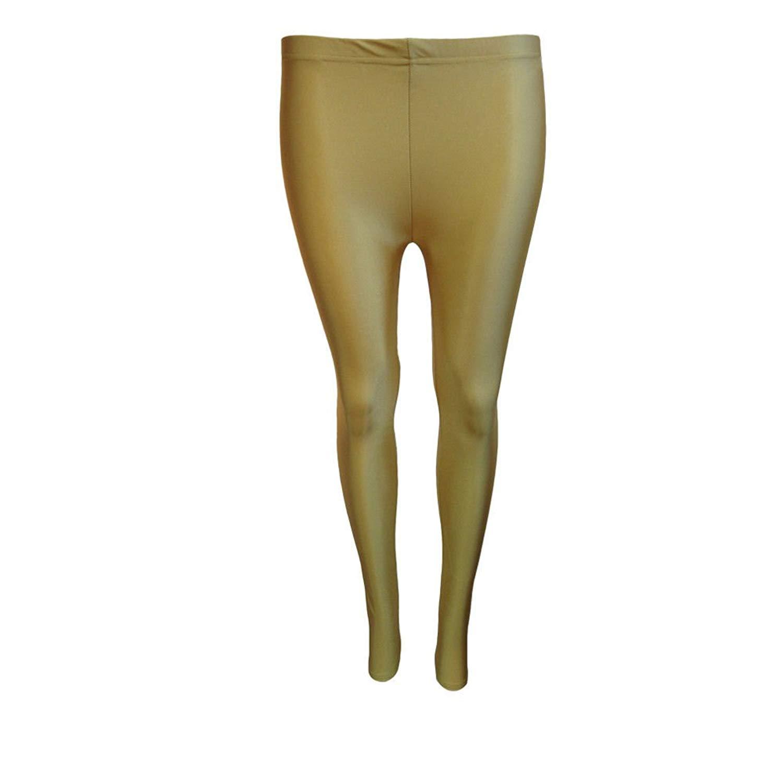fbe9775f1ffaa Papaval Girls Kids Footless Leggings Neon Shiny Nylon Lycra Children Sport  Dance Ballet Gymnastics Tight Trouser