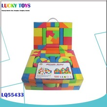 108 pcs eva building blocks learning fun happy diy plastic education kids foam toy with EN71