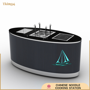 buffet Chinese Noodle Cooking Station with LED colorful magic lamp for hotel/restaurant