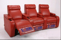 High Quality electric leather sofa recliner LS607