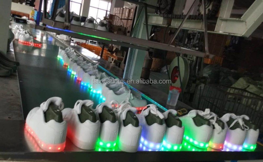light up adult max shoes Air style sport air cushion flashing led light up running shoes