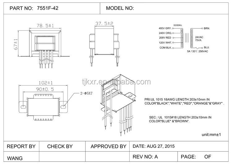 Ce Ul Cul Single Dual Triple Or Multiple Inputs 24v Transformer 75va  Va V Multi Tap Transformer Wiring Diagram on