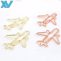 professional customer logo rose gold airplane paper clip