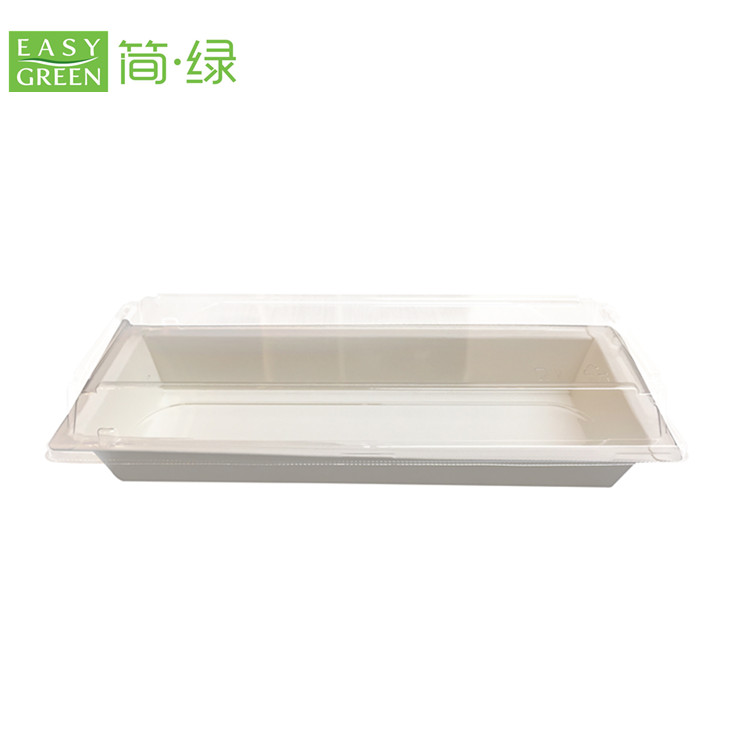EP Series biodegradable Japanese food paper sushi box with PLA lid EP-02