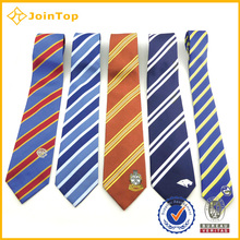 High quality Fashion Customized Woven Rainbow Striped Necktie