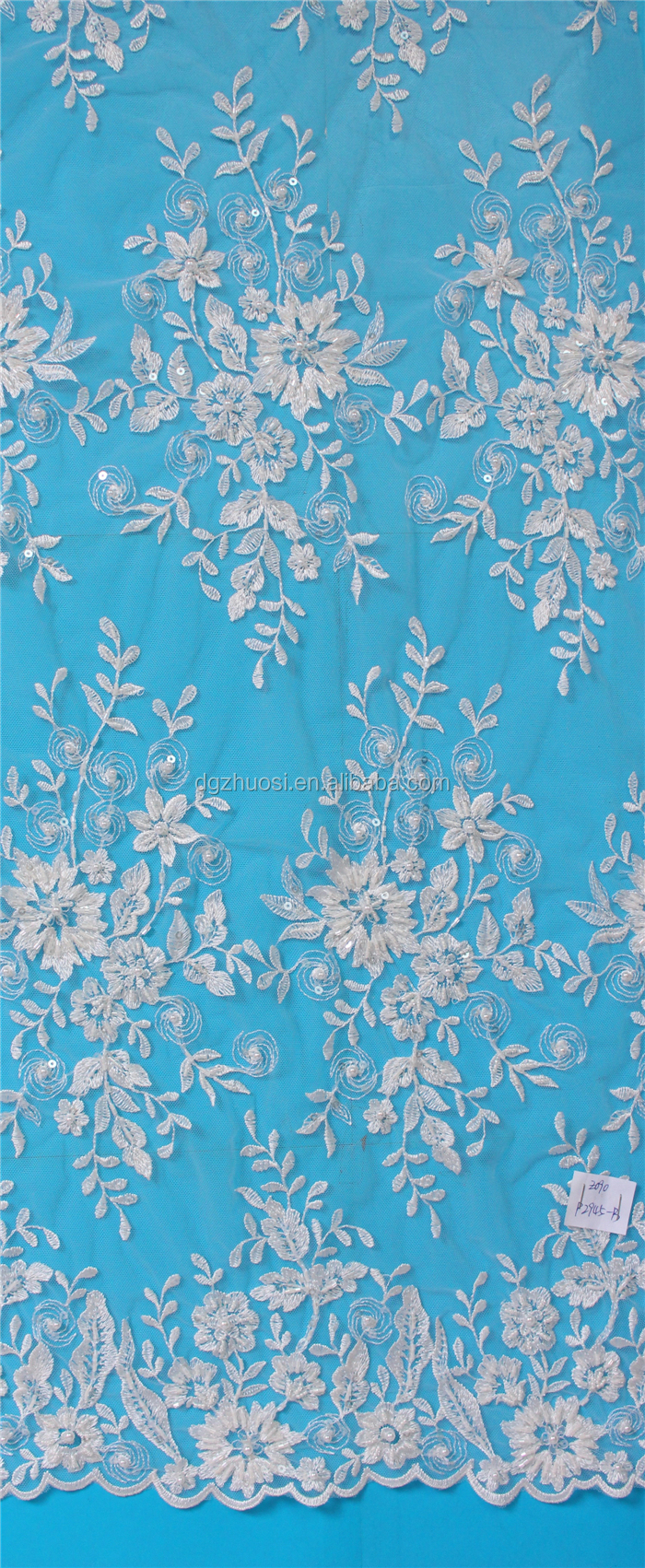 Luxury Lace Fabric With Heavy Beaded Embroidery Wedding Dress - Buy ...