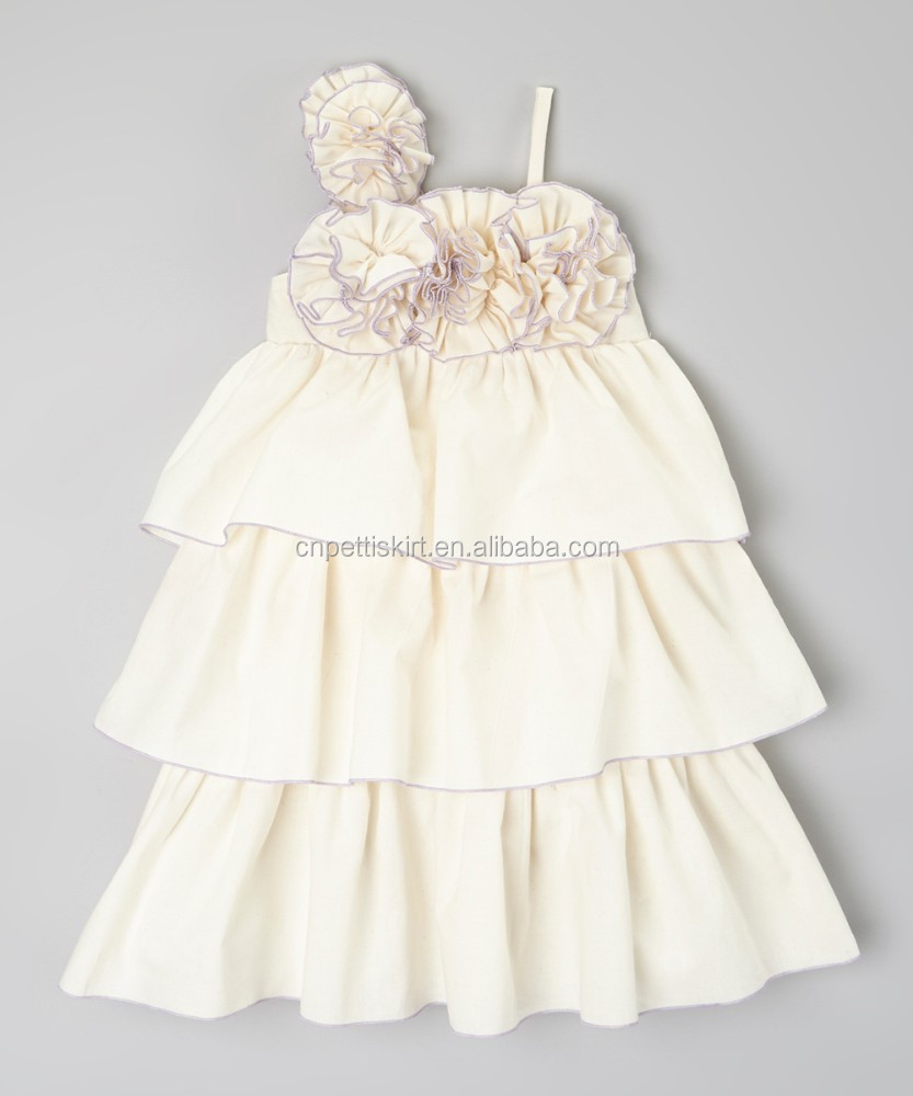 4 colors 2015 new style ruffle dress for baby Girl /kids child boutique Girl wonderful design