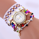 Women's Watch Quartz Woven and Leather Casual Watch With Magic Key And Shell Ornament Lady Watch BWL332