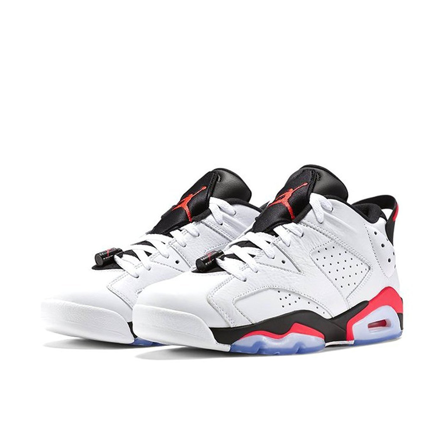check out a3cf7 7727b Get Quotations · Jordan Nike Men s Air 6 Retro Low White Infrared 23-Black  Basketball Shoe 12