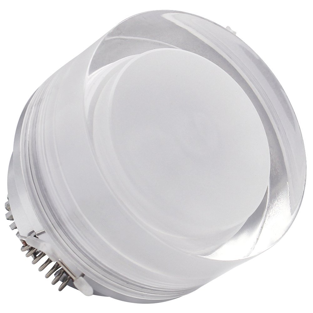 3W Acrylic LED Ceiling Light, 20W Halogen Equivalent, 200lm Daylight, 30 Degree Beam Angle, AC 85V-265V, Drivers included, Round Shape LED Recessed Light for Indoor General and Display Lighting