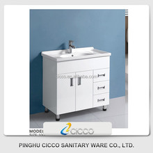 Classic Style 12 Inch Deep L Shaped Bathroom Vanity
