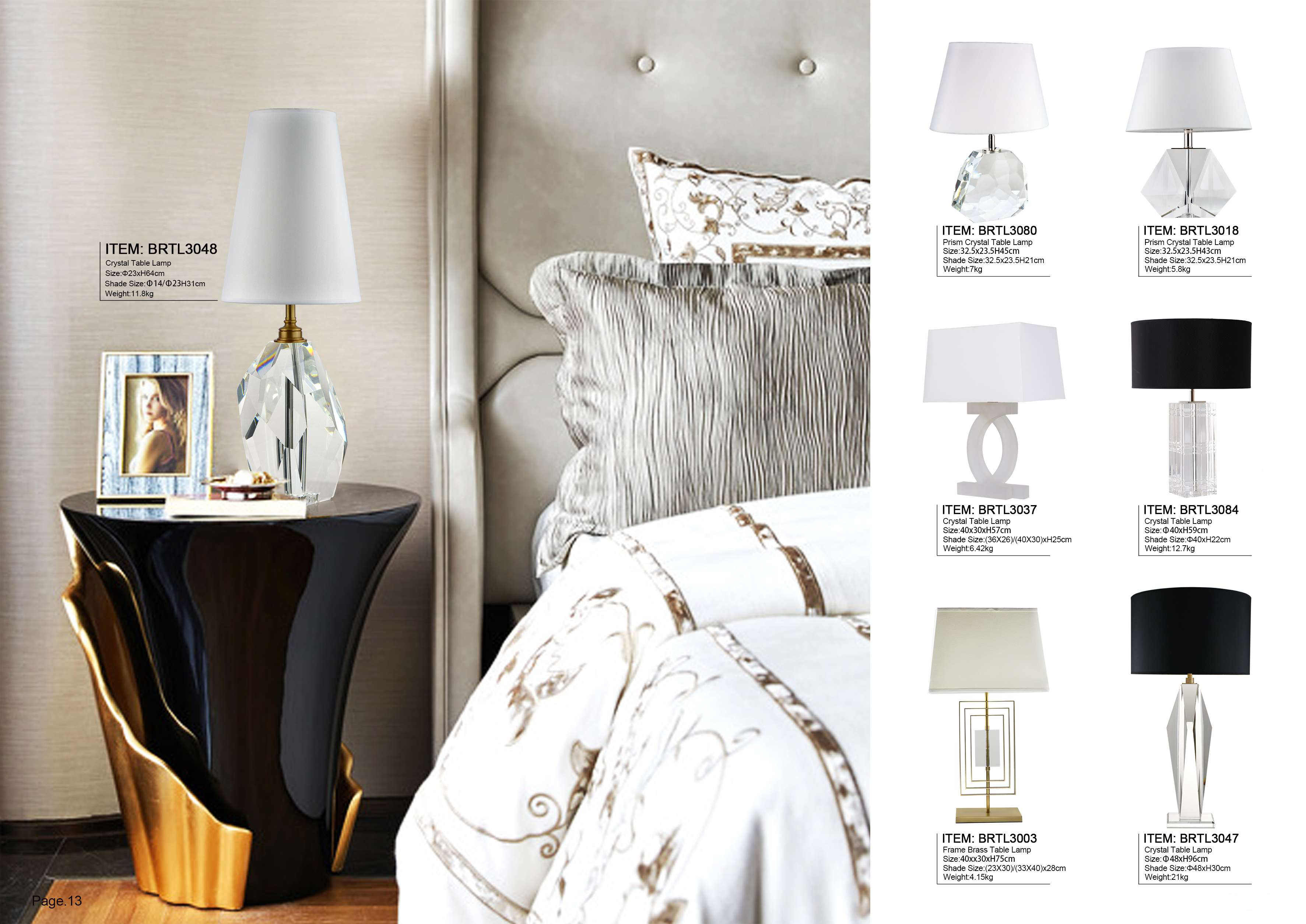 Modern Crystal Table Lamps