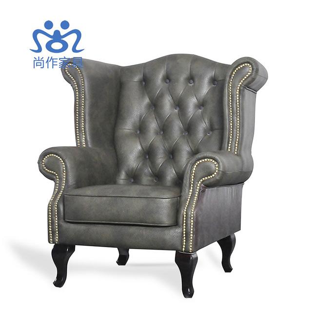 de haute qualit en cuir club chaises faire le vieux antique canap chaise fauteuil tigre. Black Bedroom Furniture Sets. Home Design Ideas