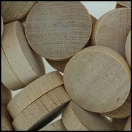 "WIDGETCO 1"" Maple Wood Plugs, End Grain"