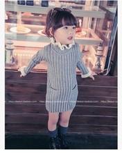Детский свитер для девочек свитер с круглым вырезом вязаный свитер детский свитер хлопковый универсальный детский свитер детская одежда(Китай)