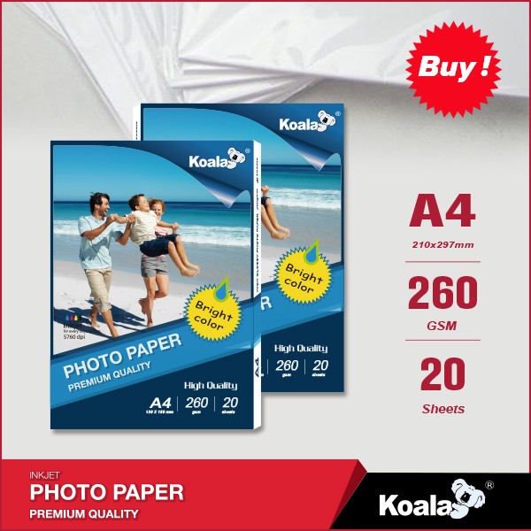 Heavy weight 260gsm glossy inkjet photo paper