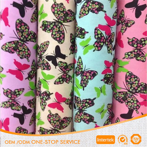 Manufacturer Direct printing butterfly pattern 100% cotton canvas printed fabric