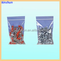 clear red zipper colored reclosable zip seal bag for industry use