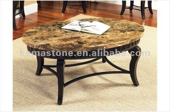 Elegant Luxury Oval Marble Top Coffee Tables