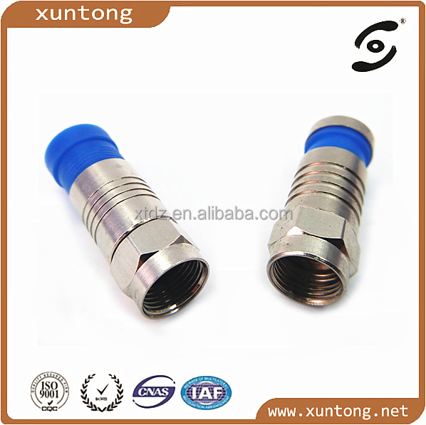 Rg59 RG6 Cable Compression Type F Male coax Connector