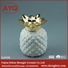 Fashion ceramic pineapple candle holder incense burners for decoration