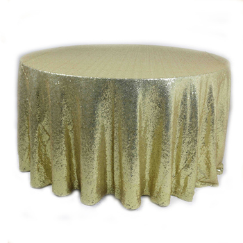 Sqn 2 120 Round Gold Sequin Glitter Table Cloth For Wedding Tablecloth Product On Alibaba