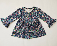 Hot sale wholesale kids clothing suppliers china floral print dress frock design for baby girl