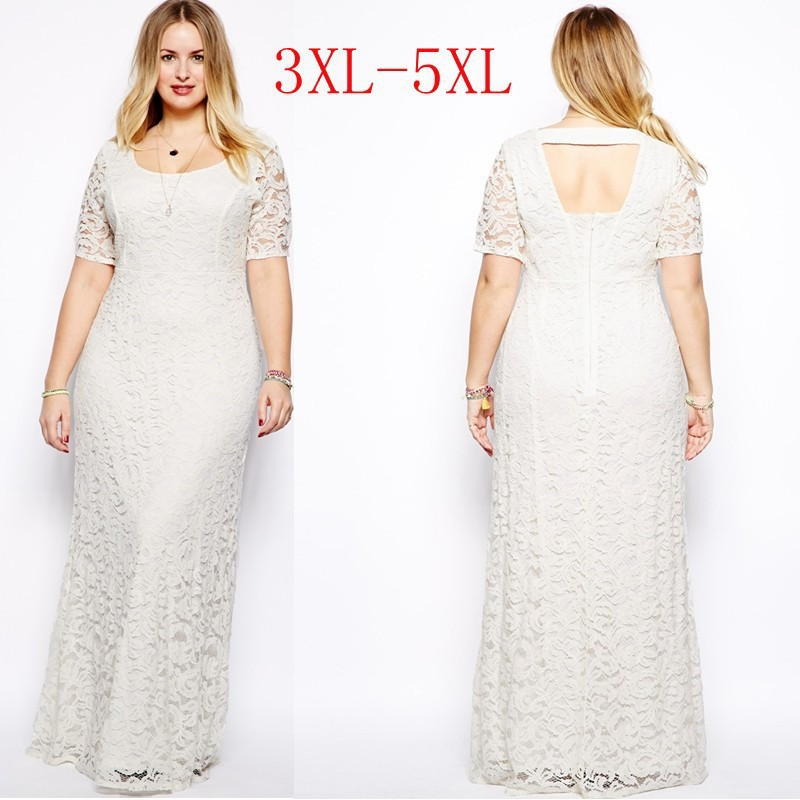 2015 Hot Sale Plus Size Women Clothing Casual Dress Lace ...
