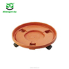 new products garden flower pots wood planter stand, flower pot mover