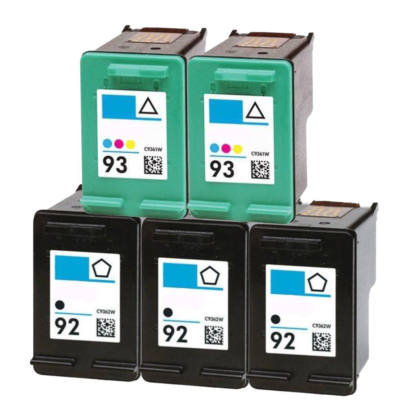 Get Quotations · OCProducts Refilled HP 92 HP 93 Ink Cartridge Replacement  for HP PSC 1510 PhotoSmart C3180 C4180