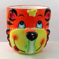 3D Hand-Painted Nose Hand Ceramic Tiger Cup