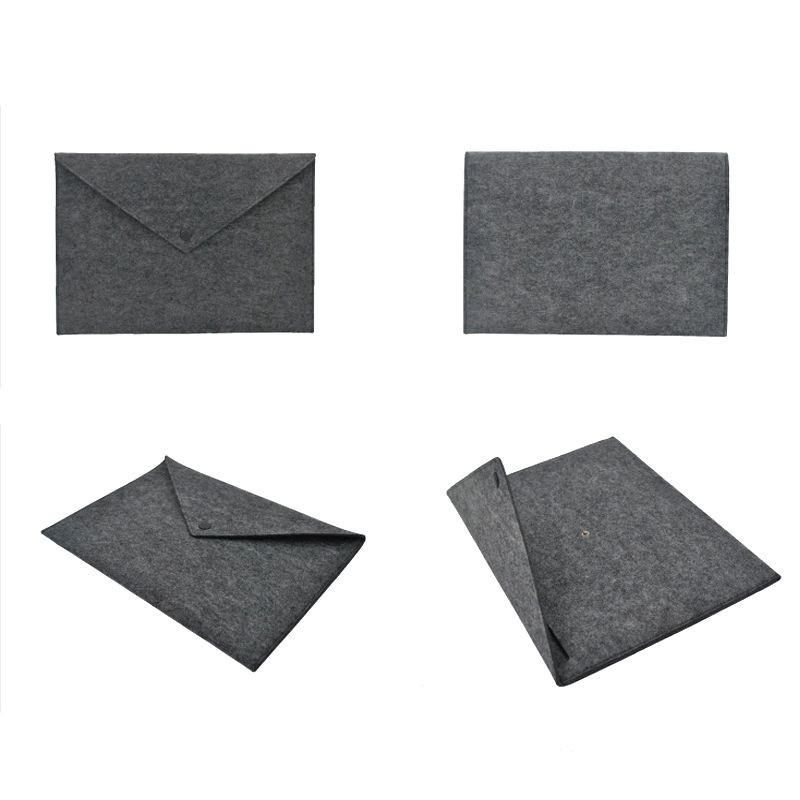 China supplier OEM wholesale eco-friendly washable and button design felt material file pocket file bag for student and workers