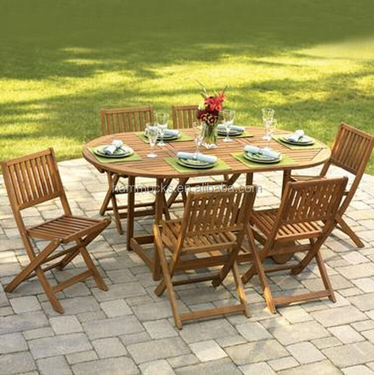 Gateleg Patio Table And Stowable Chairs