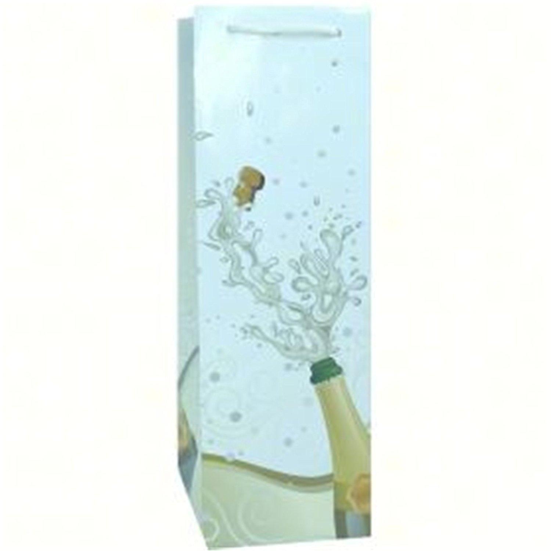 Bella Vita BVP1POPWGLITTER Economical Single Wine Bag - Popped with Glitter