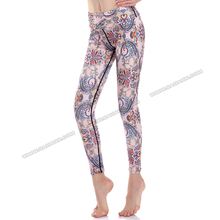 Fast delivery pink paisley sports wear fitness indian yoga clothing