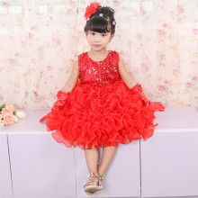 X1035Y 2017 New Design Girls Dresses Kids Frock Designs Children Frock Model Baby Party