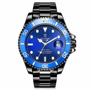 Stainless steel 316L 500 meters water resistant pilot watch with automatic mechanical movement
