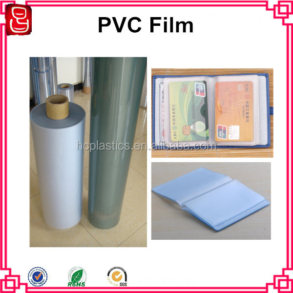 PVC Plastic Film Frosted PVC Film For Wallet Inside Pages