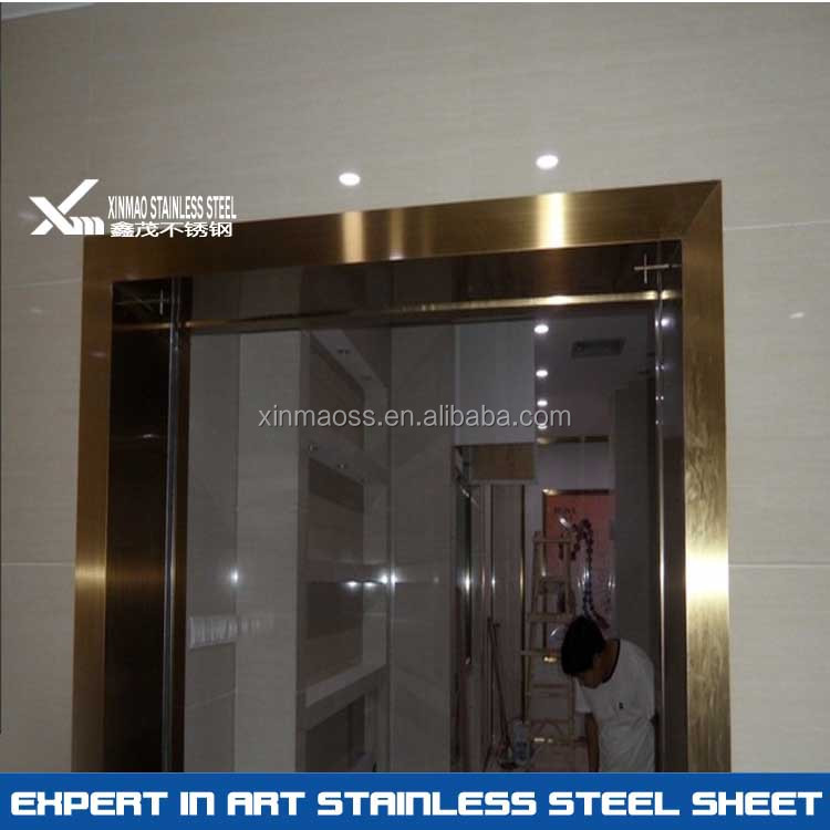 304 PVD rose gold price of stainless steel door frame, View steel ...