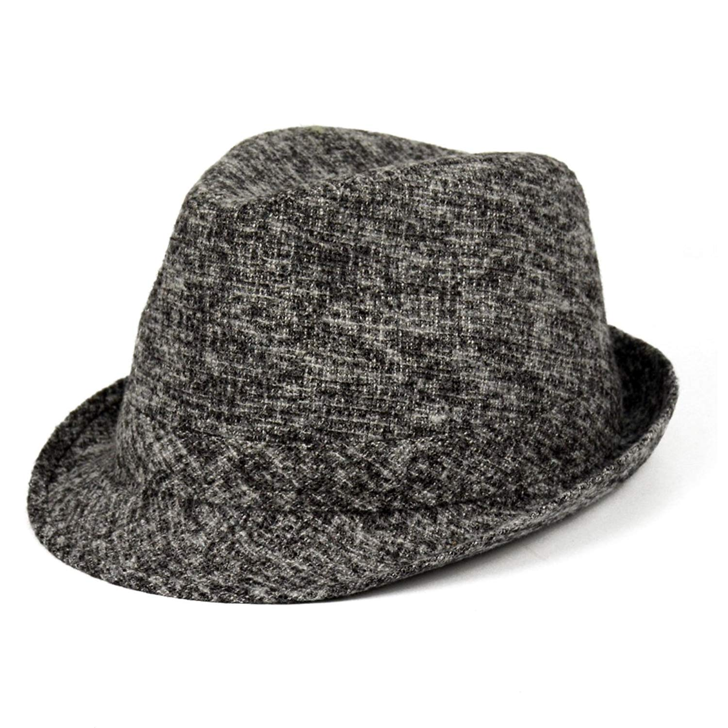 Get Quotations · CCMHAT Pacific Men s Cotton Winter Band Classic Gray  Fedora Hat Caps Pack ... b70f10b2442