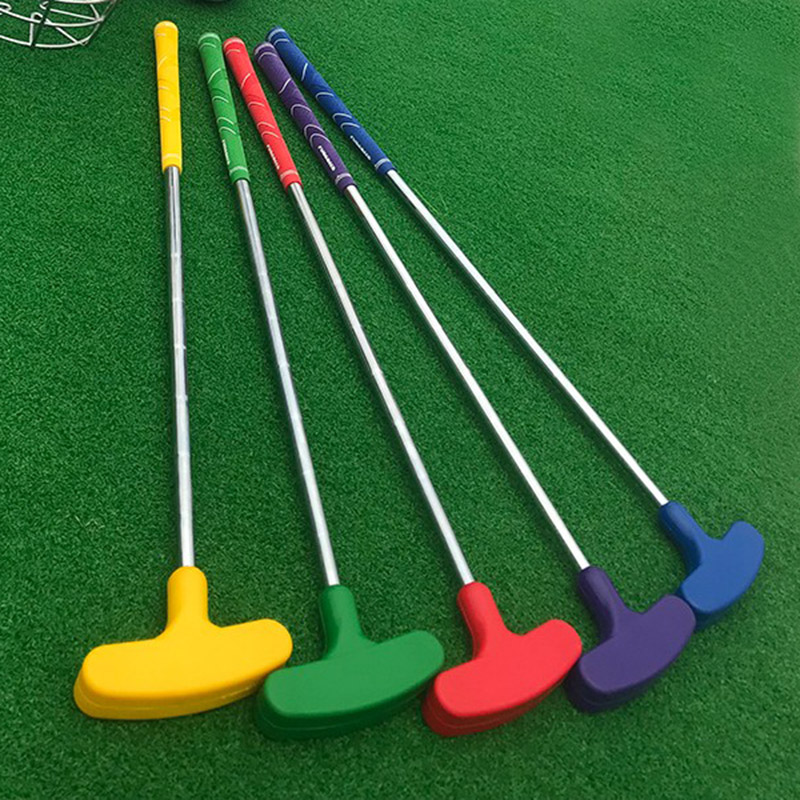 Different size (High) 저 (quality assorted 색 고무 head Kids mini golf 코스 두 번 face golf putter