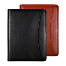 A4 multifunction 클립 보드 클립 PU leather 파일 <span class=keywords><strong>폴더</strong></span> 와 계산기 zipper portfolio customized logo